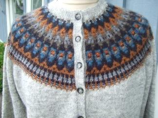 Dean pullover cardigan Bohus Stickning - Dean grå bf jumper/kofta kit