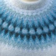 Blå Blomman pullover cardigan Bohus Stickning
