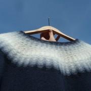 Blå Dimman pullover cardigan Bohus Stickning