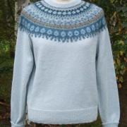 Blå Skimmer pullover cardigan Bohus Stickning
