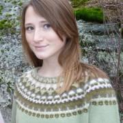 Canna grön pullover cardigan Bohus Stickning