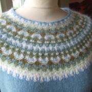 Den Blå pullover cardigan Bohus Stickning