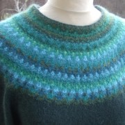 Green Wood pullover cardigan Bohus Stickning