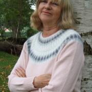 Grå Dimman Rosa pullover cardigan Bohus Stickning