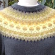 Guld pullover cardigan Bohus Stickning