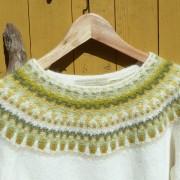 Lemon Vit pullover cardigan Bohus Stickning