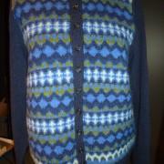 Royal Blue pullover cardigan Bohus Stickning