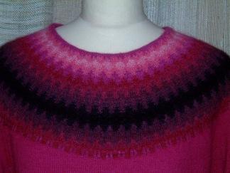 Palmen Röd pullover cardigan Bohus Stickning - Palmen Röd jumper/kofta kit