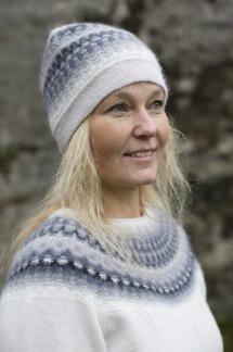 Ägget Grått pullover cardigan Bohus Stickning - Ägget Grått jumper/kofta kit