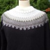 Stora Spetskragen pullover Bohus Stickning - The Large Lace Collar black mc pullover kit english instruction