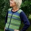 Scilla pullover cardigan Bohus Stickning - Scilla blue mc wool pullover/cardigan kit english instruction