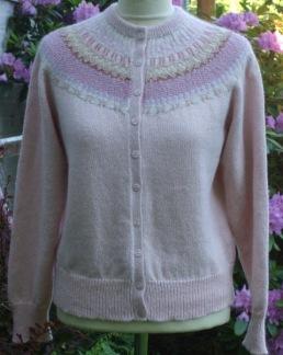Rosa Spetskragen pullover cardigan Bohus Sticking - Rosa Spetskragen jumper/kofta kit