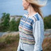 Blå Randen pullover cardigan Bohus Stickning - The Blue Edge pullover/cardigan kit english instruction