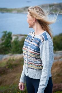 Blå Randen pullover cardigan Bohus Stickning - Blå Randen jumper/kofta
