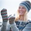 Blå Randen pullover cardigan Bohus Stickning