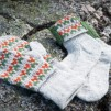 Blå Randen pullover cardigan Bohus Stickning - The Blue Edge mittens and socks kit english instruction