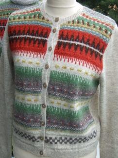 Röda Randen pullover cardigan Bohus Stickning - Röda Randen jumper/kofta kit
