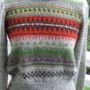 Röda Randen pullover cardigan Bohus Stickning