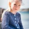 Stickbeskrivning till rätstickat kofta i angora/merino till barn 2-12 år - Stickbeskr. Stl 2-12 år vid köp av minst 100 gram garn angora/merino