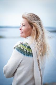 Gul Eld pullover cardigan Bohus Stickning - Gul Eld jumper/kofta kit