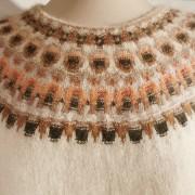 Crevetten Vit pullover cardigan Bohus Stickning