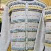 Papegojan pullover cardigan Bohus Stickning - Papegojan english instr. patterned fronts mans pullover cardigan kit