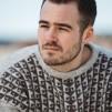 Yxorna pullover Bohus Stickning - The Axes english instr. light gray/darker browngray kit