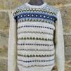 Blå Eskimå - Blue Eskimo pullover cardigan Bohus Stickning - Blue Eskimo english instr. patterned fronts men´s pullover cardigan kit