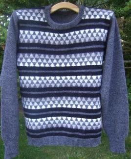 Fjäll pullover and jacket Bohus Stickning - Fjäll herrjumper grå kit
