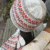 Stigbygeln - The Stirrup helmönstrad front pullover cardigan Bohus Stickning - The Stirrup mittens kit, red/gray