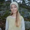 Randiga Loppan helmönstrad front Bohus Stickning - Randiga Loppan, yellow, english instr. pullover/card. kit gray mc