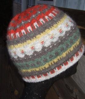 Gröna Ängen hat, tam, scarf Bohus Stickning - Gröna Ängen mössa eller pixie hat kit