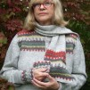 Gröna Ängen hat, tam, scarf Bohus Stickning - The Green Meadow patterned scarf kit english instruction