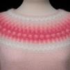 Den Skära Blomman pullover cardigan Bohus Stickning - The Pink Flower pullover/cardigan kit english instruction