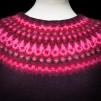 Nya Azalean Aubergine pullover cardigan Bohus Stickning - The New Azalea aubergine mc pullover/cardigan kit english instruction