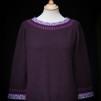 Svanen Lila pullover Bohus Stickning - The Purple Swan pullover kit english instruction