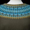 Turkos Ljus pullover cardigan Bohus Stickning - The Turquoise Light pullover/cardigan kit english instruction