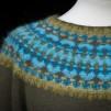 Turkos Ljus pullover cardigan Bohus Stickning