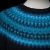 Ägget Blått pullover cardigan Bohus Stickning - The Blue Egg pullover/cardigan kit, black mc, english instruction