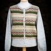Blomsterrabatten patterned front pullover cardigan Bohus Stickning - The Flowerbed patterned front pullover/cardigan kit english instruction