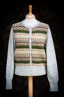 Blomsterrabatten patterned front pullover cardigan Bohus Stickning - Blomsterrabatten helmönstr. front jumper/kofta kit