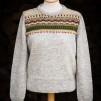 Blomsterrabatten patterned front pullover cardigan Bohus Stickning - The Flowerbed straight yoke pullover/cardigan kit english instruction