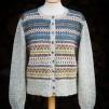 Blå Randen pullover cardigan Bohus Stickning - The Blue Edge pullover/cardigan kit english instruction