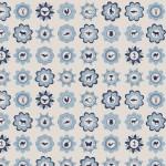 mönster blå A3a
