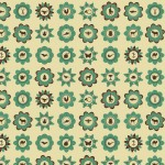 mönster grön A3a