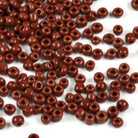 8/0 Seed Beads, opaque brun, 3mm