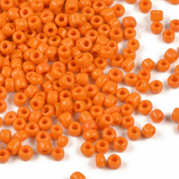 8/0 Seed Beads, opaque orange, 3mm