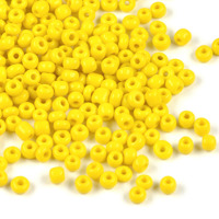 8/0 Seed Beads, opaque gul, 3mm