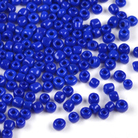 8/0 Seed Beads, opaque marinblå, 3mm