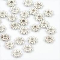 Mellandelar, daisy, silver, 6mm